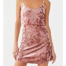Forever21 Crushed Velvet Cami Dress Mauve Sz S NWT