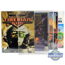 5 x PC Game BOX PROTECTORS Big Box Strong 0.5mm Plastic DISPLAY CASE (Type 3)