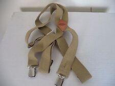 Men's Beige Dickies Adjustable Elastic Suspenders. 1S ( One Size ).