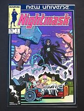 Nightmask #1#2#3#4#5#6#7#8#9#10#11#12 VF+ 1986 Lot of 12 High Grade New Universe