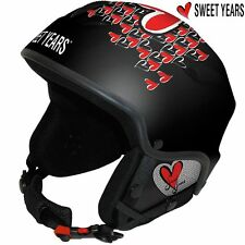 Casco da sci Snowboard bici Cuffie integrate Mp3 Taglia S Sweet Years Nero