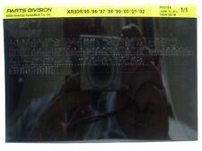 Honda XR80R XR80 1995 1996 97 98 99 00 01 02 Parts List Catalog Microfiche a185