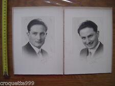 2 Photos portrait d un jeune homme souriant BLANC DEMILLY Lyon