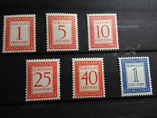 Nederlands Nieuw-Guinea NVPH P1/P6 Portzegels Cijfer 1957 Postfris !!!
