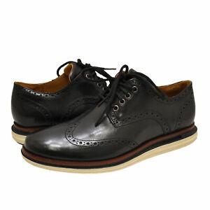 Men's Shoes Cole Haan ORIGINAL GRAND LUX WINGTIP Leather Oxfords C31545 BLACK