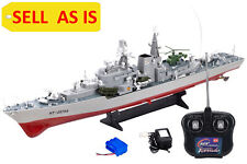 """Sell As Is Smasher Destroyer Battleship Rc Navy Model Boat 31"""" Warship Used"""