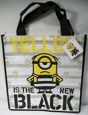 """BRAND NEW DESPICABLE ME MINION MADE YELLOW IS THE NEW BLACK 12.5""""x13"""" TOTE BAG!"""