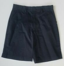 School Uniform Shorts Adjustable Waistband 65% Polyester 35% Cotton Boy Sz 14H