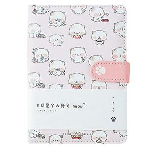 CLARA Cute Cat Notebook Japanese Sketchbook PU Leather Cover Diary Travel