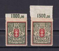 DANZIG GERMANY 1922, Mi# 101, CV €24, with margins, Emblems, MNH