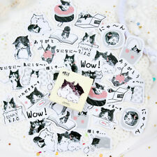 45PCS Cute Cat in bottle Mini Paper Stickers DIY Diary Album Stick Decor Lot  Jm