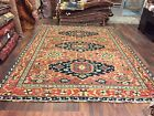 "On Sale Genuine Hand Knotted Indo Oushak Heriz Geometric Area Rug Carpet 9x11'9"""