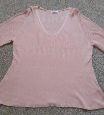 Per Una pink lightweight Jumper top size 20