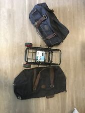 New Bella Russo 2 Piece Luggage set with Collapsing/ Foldable Two Wheeled Cart.