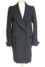 Burberry Prorsum Black Double breasted Oversized Tuxedo Coat 42 UK 10