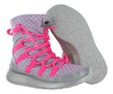 697bd4590bb3 Nike Roshe Run Hi Sneakerboot Flash Grey and Pink Girls Slip on BOOTS 5