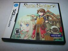 Rune Factory A Fantasy Harvest Moon Nintendo DS Lite DSi XL w/Case & Manual