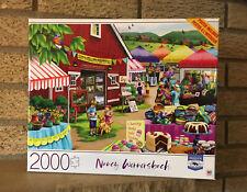 "Milton Bradley ""Country Afternoon"" 2000 Piece Jigsaw Puzzle Nancy Wernersbach"