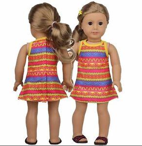"18"" doll clothes DRESS fits Our Generation, American Girl, DesignaFriend & Gotz"