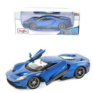 Maisto 1:18 Special Edition Blue 2017 Ford GT Kids Diecast Model Toy Sports Car