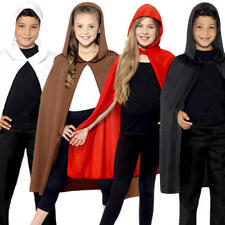 Hooded Cape Kids Fancy Dress Fairy Tale World Book Day Childrens Costume Cloaks