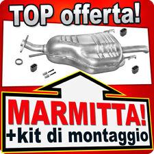 Silenziatore posteriore OPEL ZAFIRA A 1.6 1.8 2.2 16V 1999-2003 Marmitta EEN