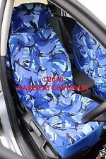 Ford Explorer (1997-02) Azul Camuflaje Impermeable cubiertas de asiento de coche - 2 X frentes