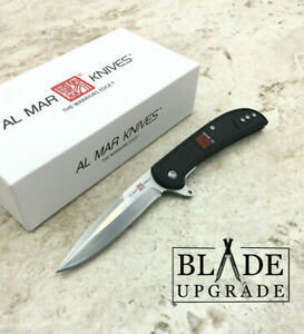 Al Mar Ultralight Hawk Linerlock Steel Blade Folding Knife 4122