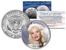 JAYNE MANSFIELD * 1950s Sex Symbol *Colorized J,FK Kennedy Half Dollar U.S. Coin