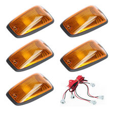 5x Cab Roof Running Marker light Amber Cover  For 1988-2002 Chevy GMC