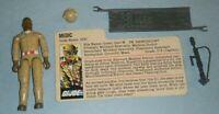 1983 GI Joe Medic Doc v1 Medical Dr Doctor Figure w/ File Card *Complete READ