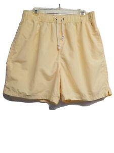 Roundtree & Yorke Swim Trunks Mens Size L #58909 Yellow