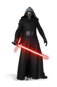 Kylo Ren Star Wars The Force Awakens LIFESIZE CARDBOARD CUTOUT Adam Driver cool