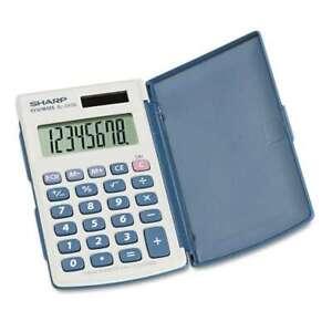Sharp® EL-243SB Solar Pocket Calculator, 8-Digit LCD 074000016200