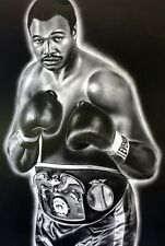 Larry Holmes Painting by Topps Artist Dave Hobrecht - Wood Print