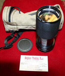 Vivitar 52mm Macro Focusing Zoom 70-210 mm 1:4.5 Lens w/ Canvas Case