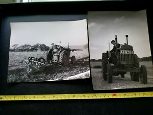 Vintage 1950s Tractor, Fordson X 2 Large Real Photos, 8.5inches By 6.5inches.