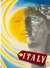 Italia Italy Italian Statue Head Vintage Travel Advertisement Art Poster Print