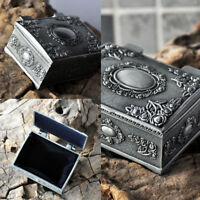 Gothic Vintage Ring Necklace Studs Jewelry Trinket Display Storage Box Case