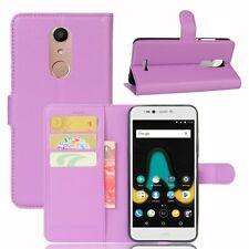 Cover Wallet Premium Purple for Wiko upulse Lite Case Pouch Protective NEW