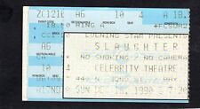 Original 1990 Slaughter concert ticket stub Celebrity Theatre Phoenix Arizona