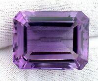 35.50 Carat Emerald Cut Natural Brazilian Amethyst  Gem Stone Gemstone B20A9