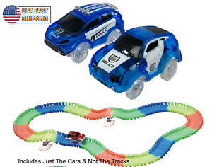 2 Magic Twister Glow In the Dark Race Track Vehicles  Turbo Police Pursuit Cars