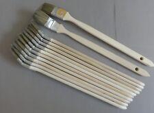 """12 x Heizkörperpinsel 35 mm, 1,5  """" graue Chinaborste Winkelpinsel Eckpinsel"""