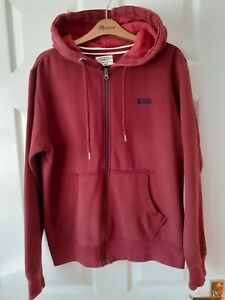 Mens Soul Cal & Co Zip Up Hoodie In Burgundy Size Small