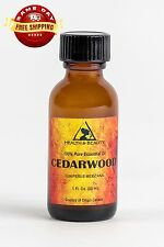 CEDARWOOD ESSENTIAL OIL ORGANIC AROMATHERAPY PURE GLASS BOTTLE 1 OZ, 30 ml