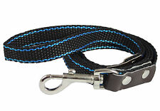 Heavy Duty Nylon Dog  5ft Leash with Leather Enforced Snap for Large Breeds