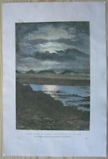 1880 Reclus print MIDNIGHT SUN ON SPITSBERGEN (SVALBARD), NORWAY (#21)
