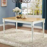 Rustic Farmhouse Dining Area Kitchen Table Home Office Desk Wood White Natural