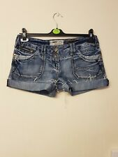 ladies blue denim shorts/hot pants by Newlook size 12